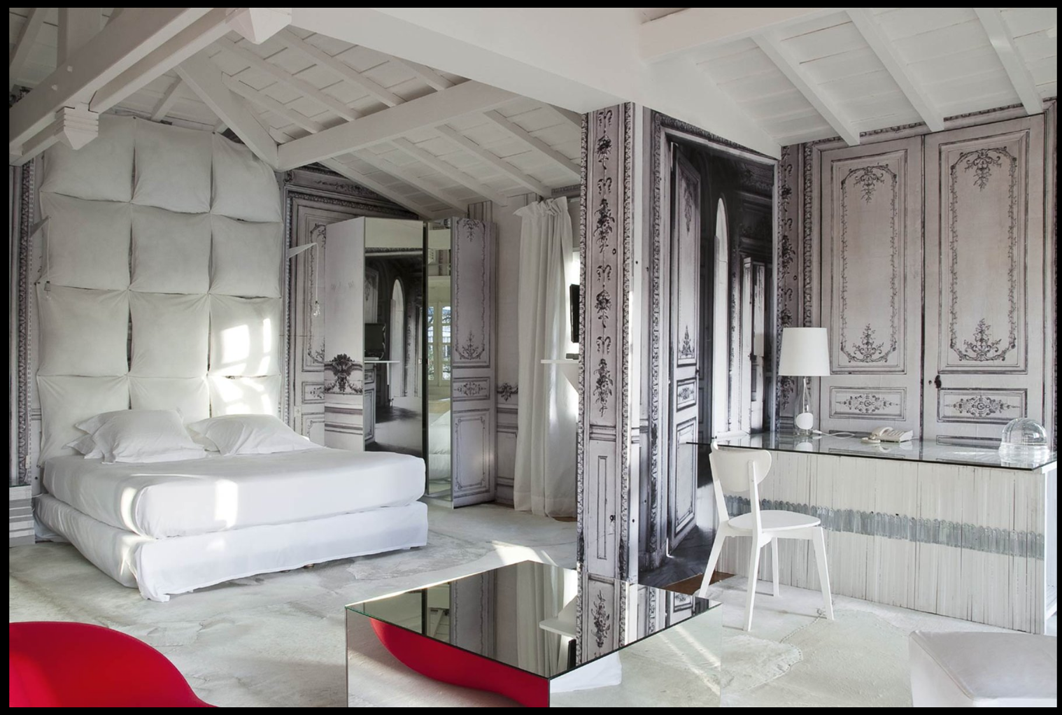 Dream white bedroom decorating ideas decoholic for Hotel design paris spa