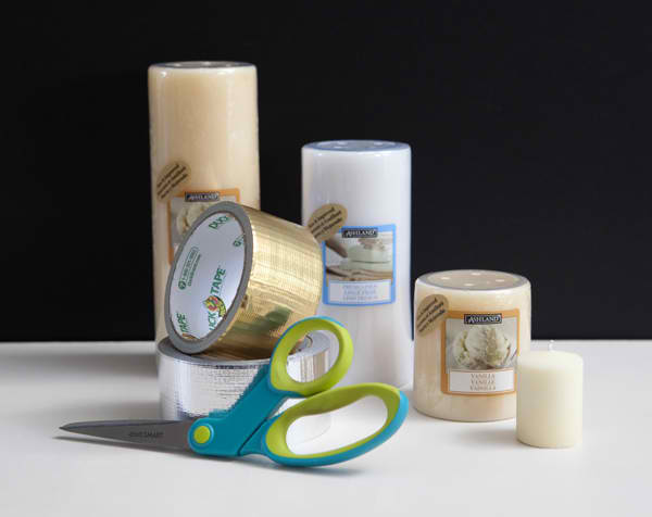 DIY duck tape candles