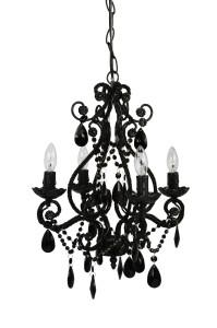 cheap black 4 light chandelier