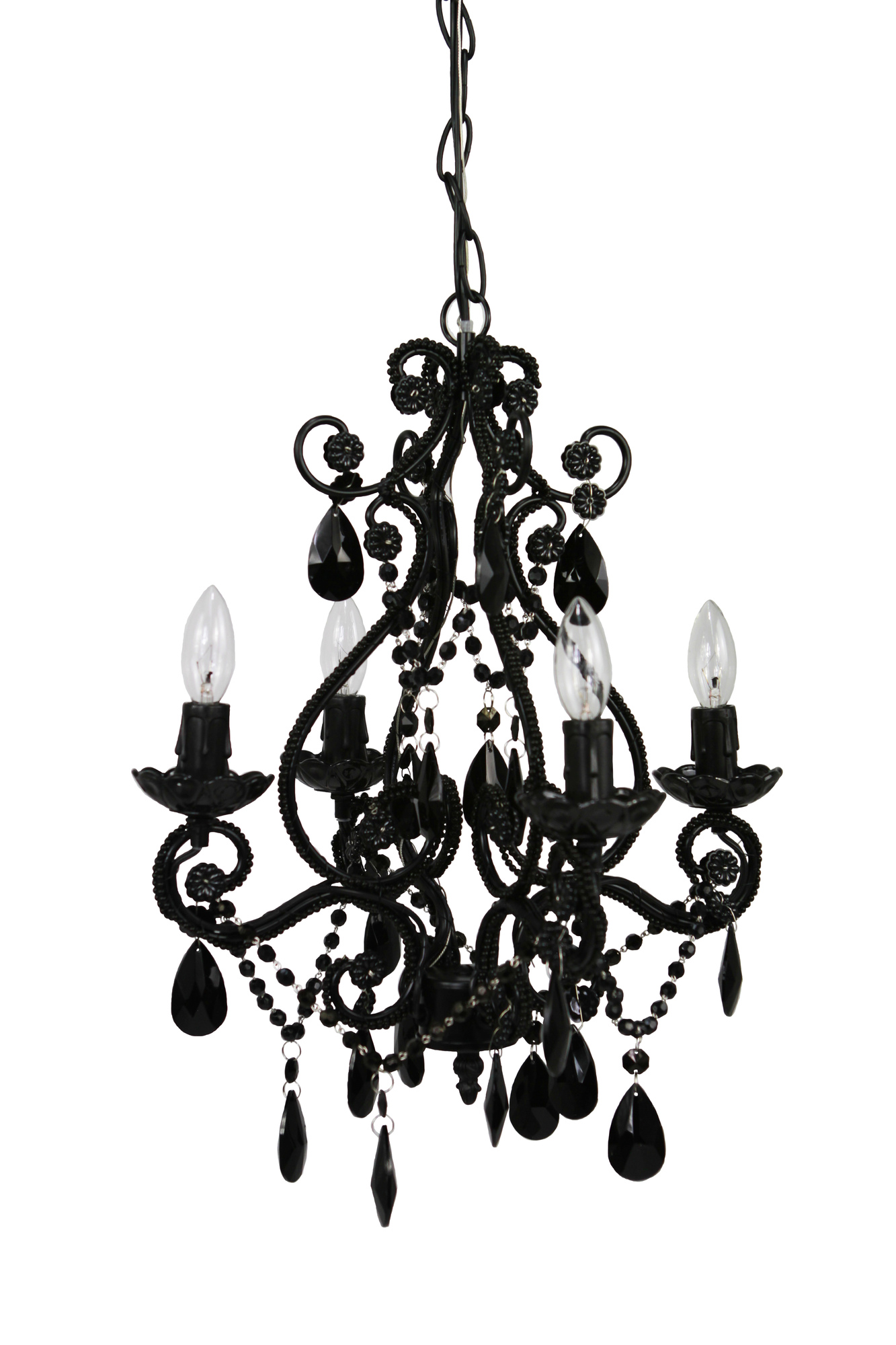 Modern and cheap chandeliers decoholic cheap black 4 light chandelier mozeypictures Image collections
