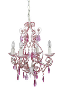 cheap pink 4 ligth chandelier
