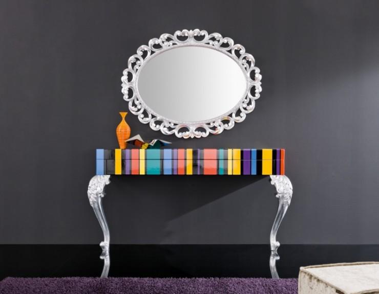 italian consolle multicolor minimal baroque