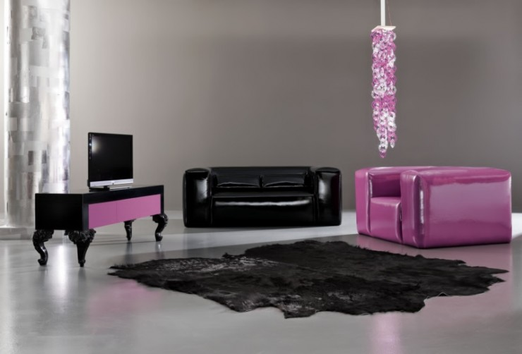 modernpurple living room furniture set