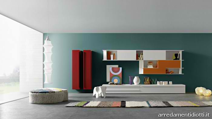 Red wallpaper designs for living room