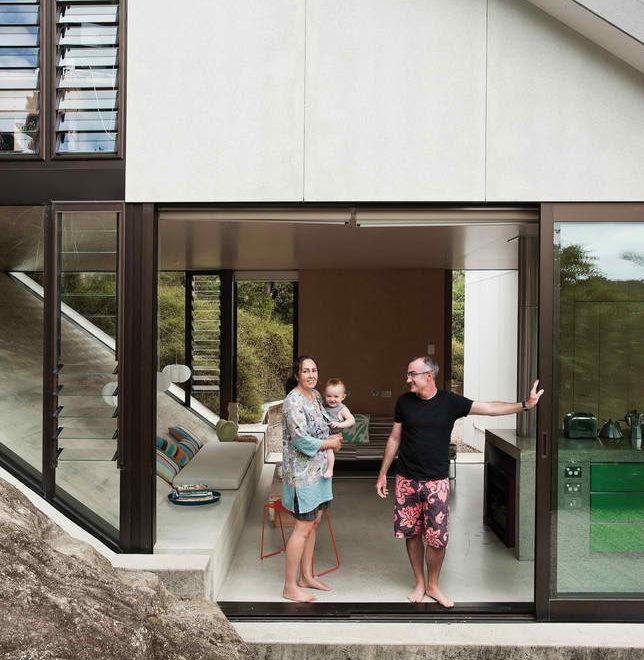 seaside New Zealand house