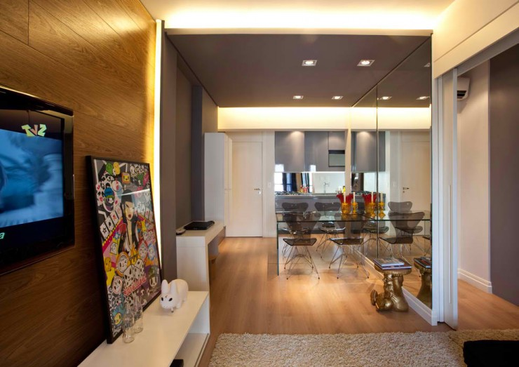 small apartment 3 designs by Mauricio Karam