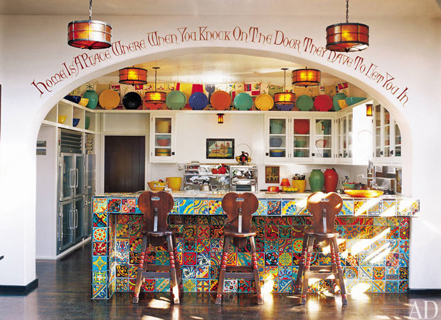 Diane Keaton's colorful kitchen