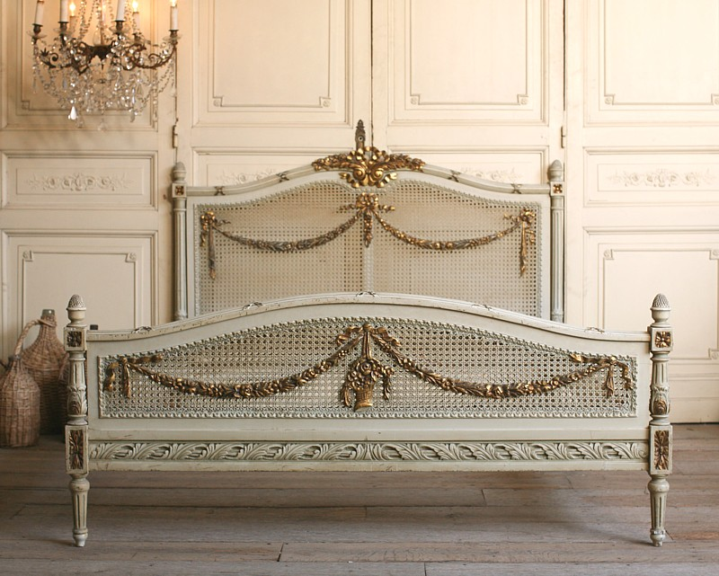 French bed on pinterest painted cottage beds and french for French antique bedroom ideas
