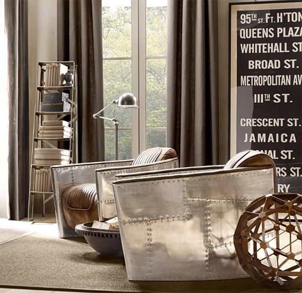 aviator living room furniture by restoration hardware furniture brand