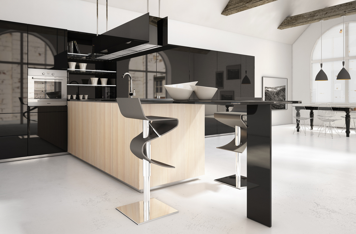 Brilliant kitchen cabinets by scic decoholic for Kitchen pictures