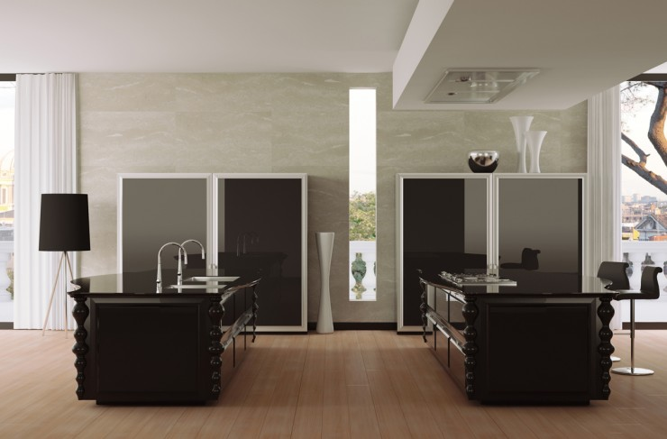 modern luxury black kitchen cabinets scic