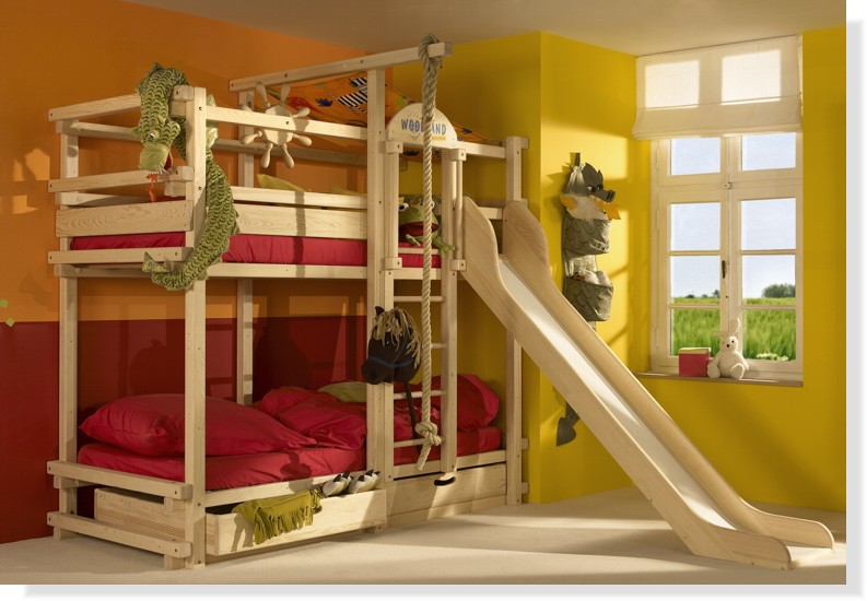 Boys Bunk Bed with Slide 793 x 550