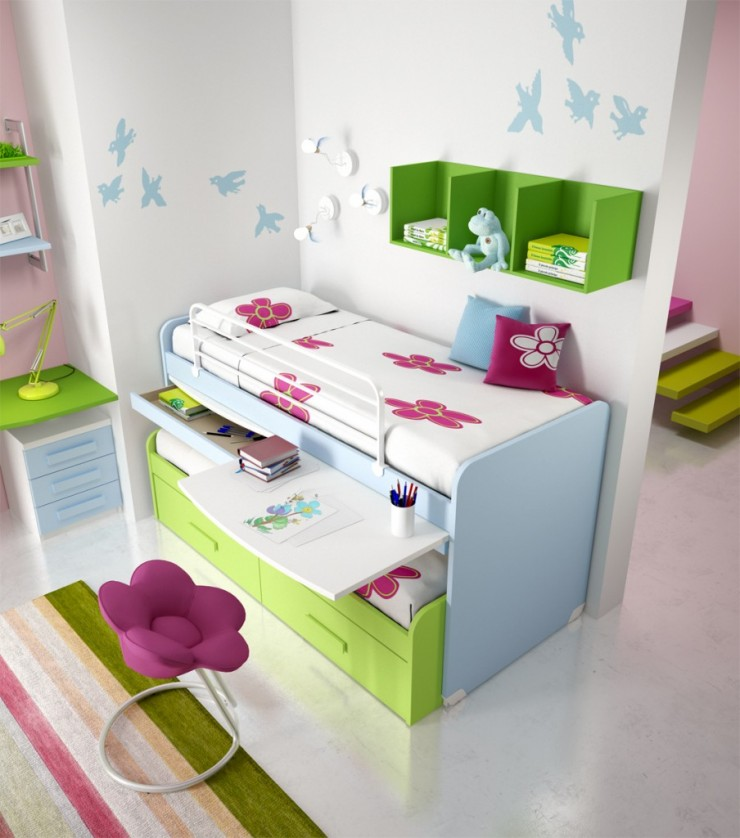 10 awesome girls 39 bunk beds decoholic - Amazing teenage girl desks ...