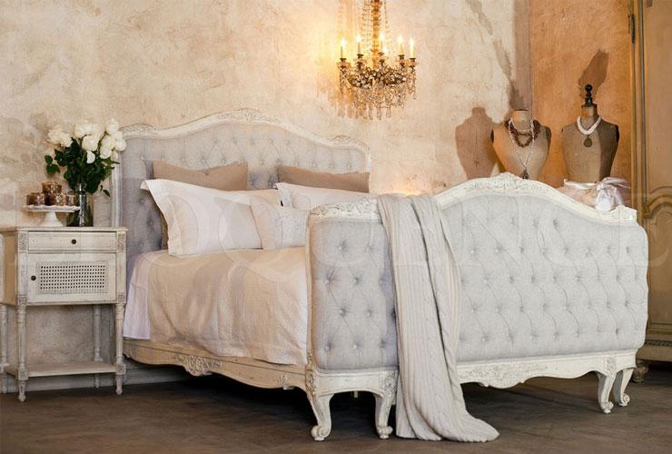 Lovely Shabby Chic Bedroom Set Part - 1: French Scabby Chic Bed