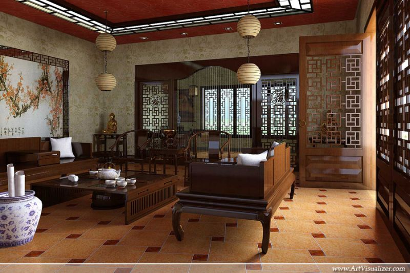 Conceptual Design Of Classic Chinese Interior By Artvisualizer