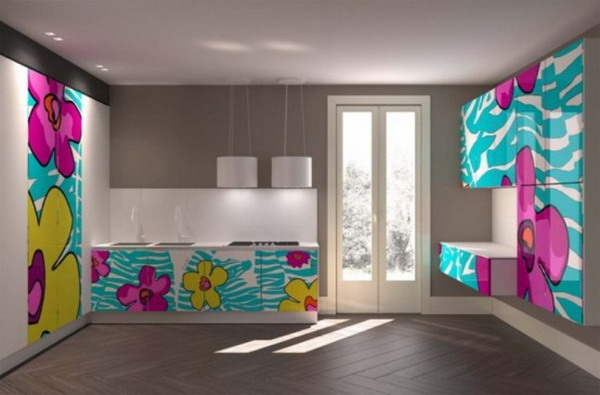 colorful kitchen design aster cucine