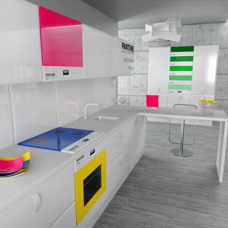 colorful kitchen design pantone