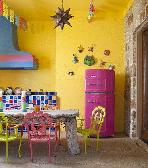 colorful kitchen ideas by  Astleford Interiors