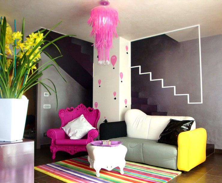 colorful living room 2 designs by oikia studio