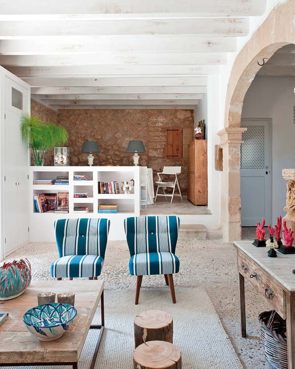 country house decorating in Majorca