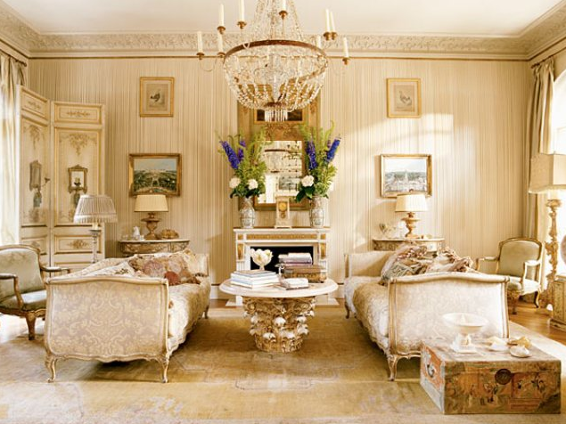 Attractive french living room design ideas decoholic for Living room ideas gold