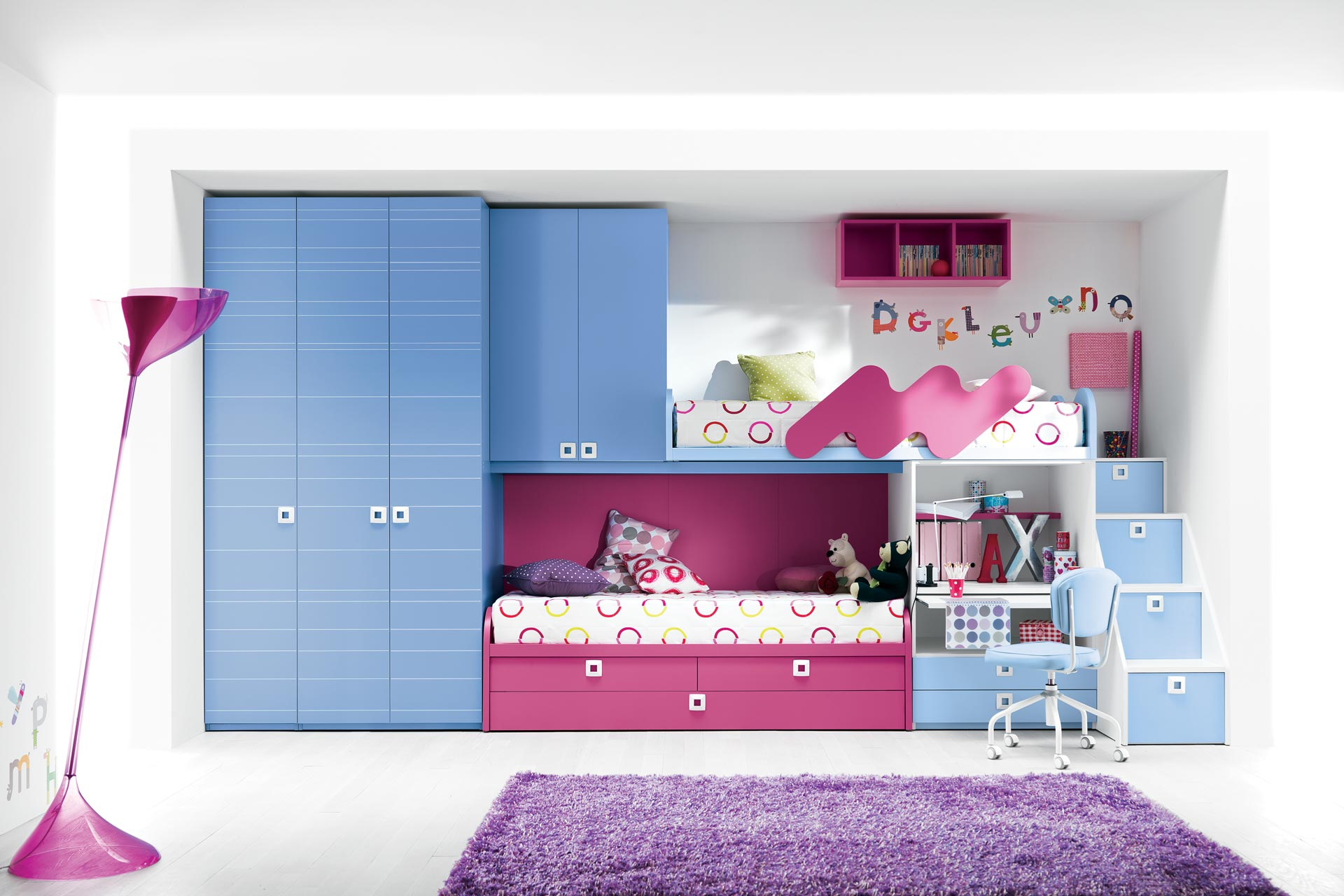 Collection Luxury And Romantic Bunk Beds For Girls By Italian Style