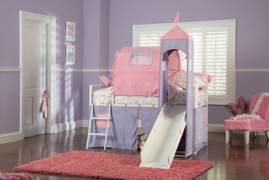 Girl Bunk Bed with Slides 1100 x 736