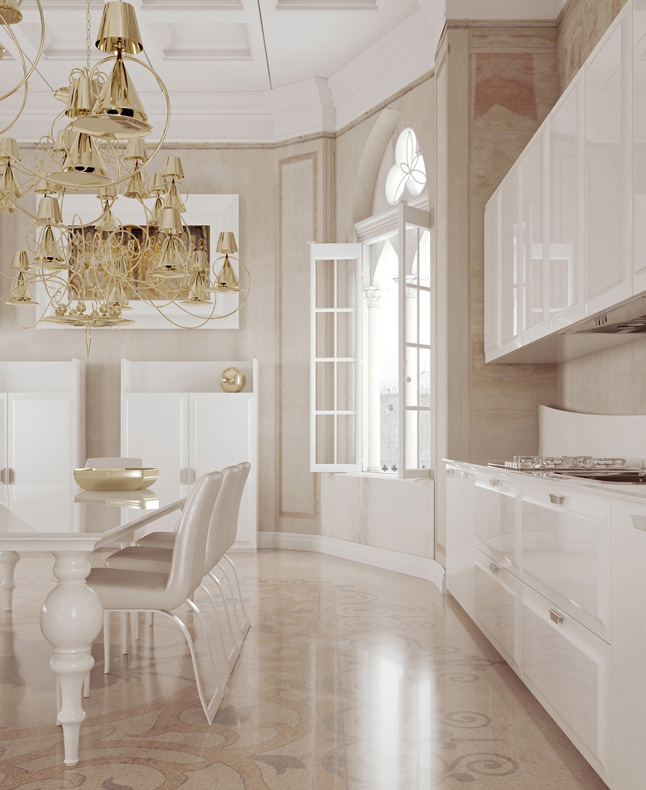 Brilliant kitchen cabinets by scic decoholic for Italian kitchen cabinets