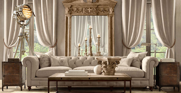 living room furniture designs restoration hardware - Top Furniture Design
