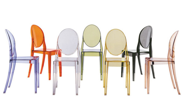 living room chairs by furniture brand kartell