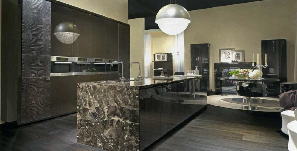 Brilliant kitchen cabinets by scic decoholic for Luxury kitchen designs 2012