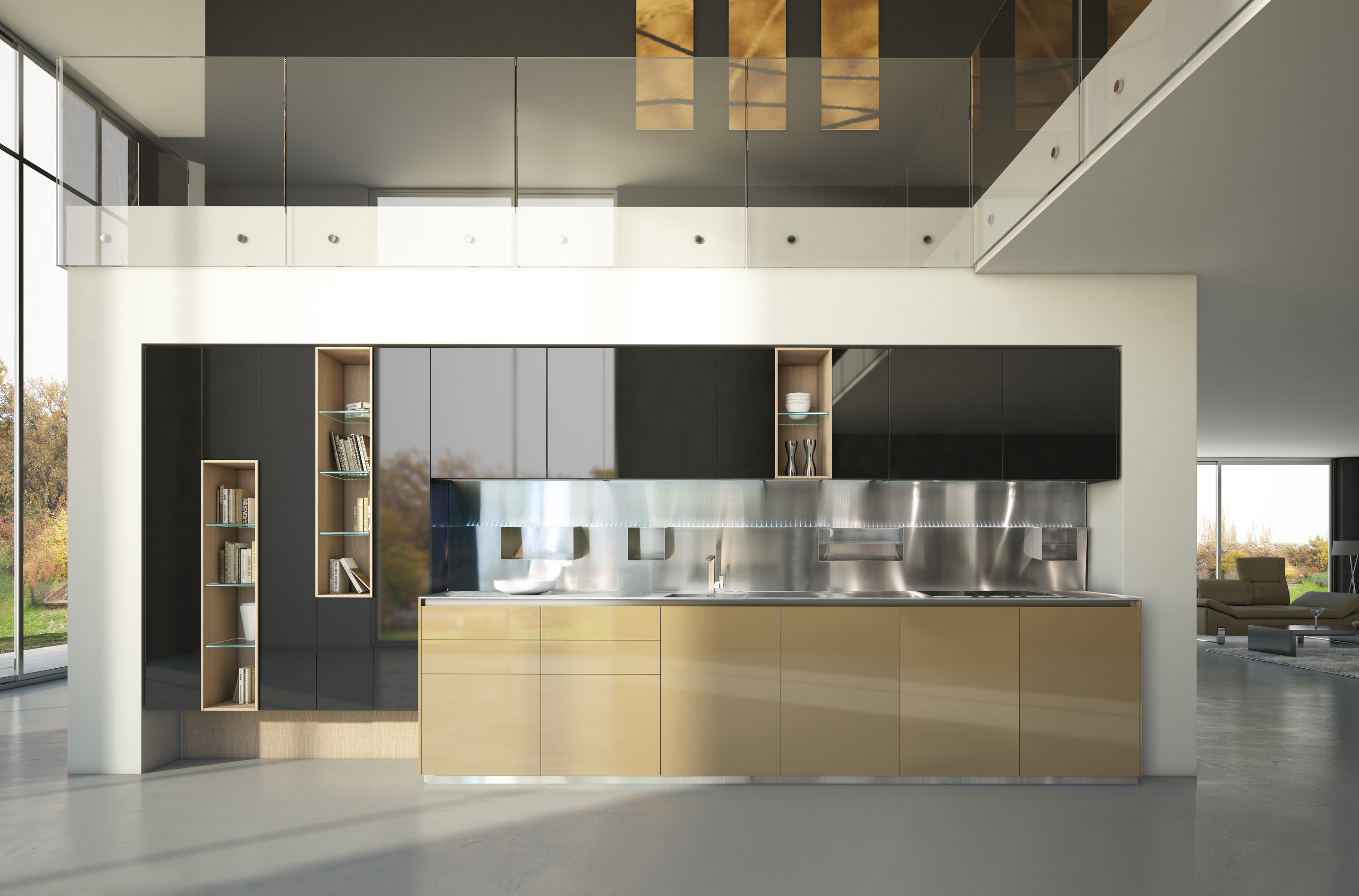 Brilliant kitchen cabinets by scic decoholic for Design minimal