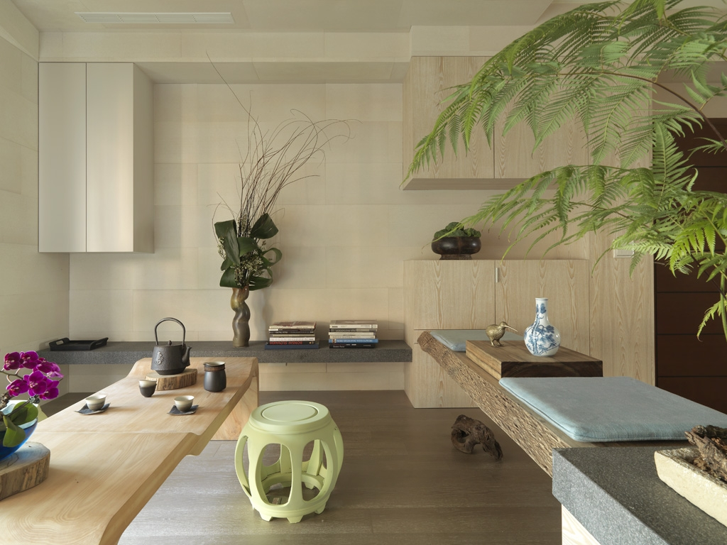 Modern, minimal asian interior design by designer Wu Chengxian from ...