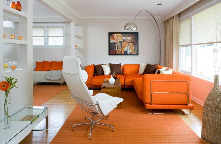orange living room designs by colin and justin