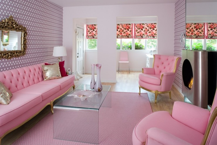 pink living room designs by colin and justin