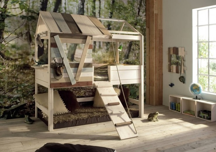 treehouse style bunk bed