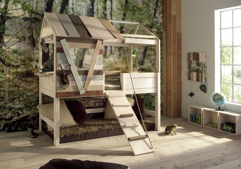 treehouse bed by kids' rooms