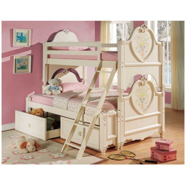 girls twin bunk bed dollhouse