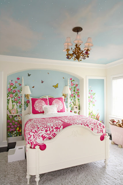 Attrayant Wall Mural Ideas For Girls Bedroom