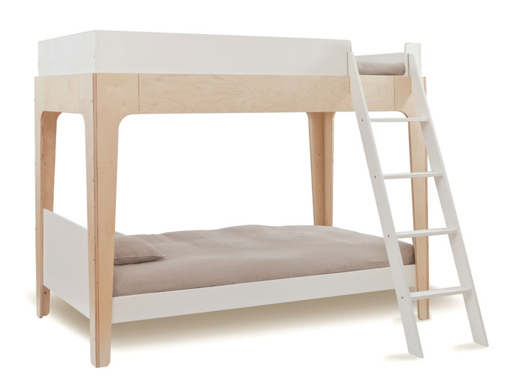 white modern bunk bed