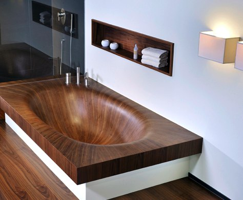 modern wood bathtub laguna