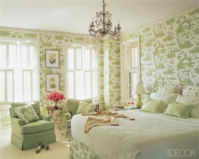 1940's green bedroom interior design ideas