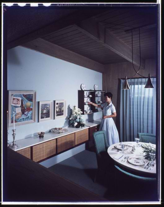 1940's dining room interior design 2 ideas