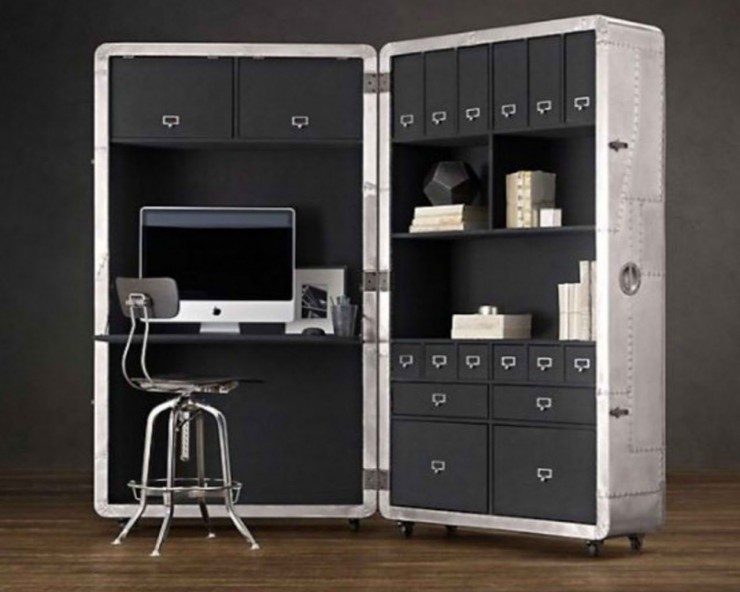 Blackhawk Secretary Trunk home office 2