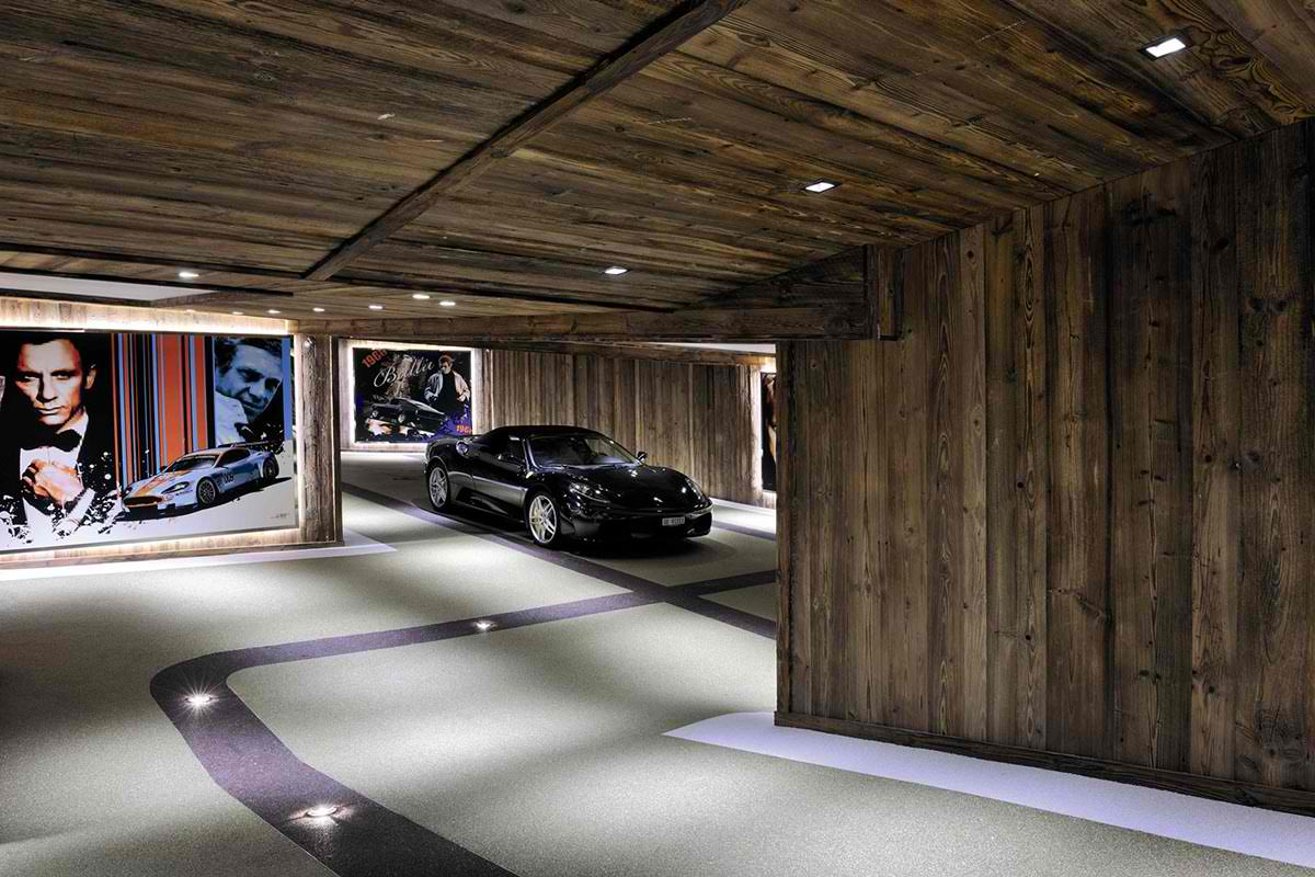 Luxury chalet brickell in meg ve alpes decoholic for Garage designs interior ideas