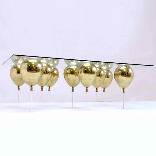 limited edition coffee table by gold balloons