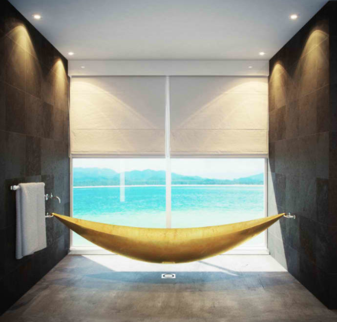 Gold Hammock Bathtub by Splinter Works