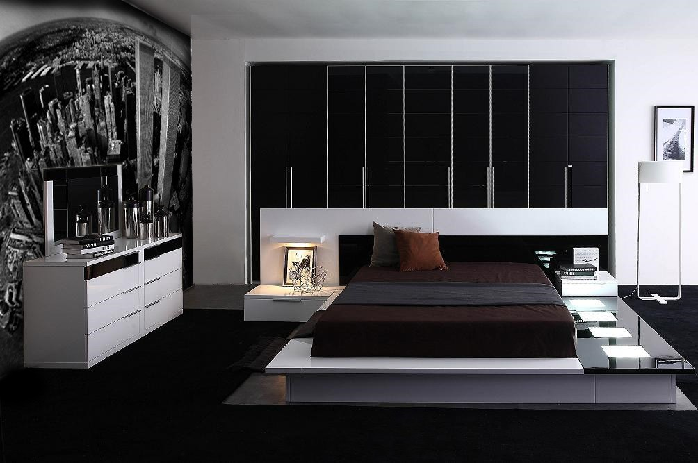 impera modern contemporary lacquer platform bed