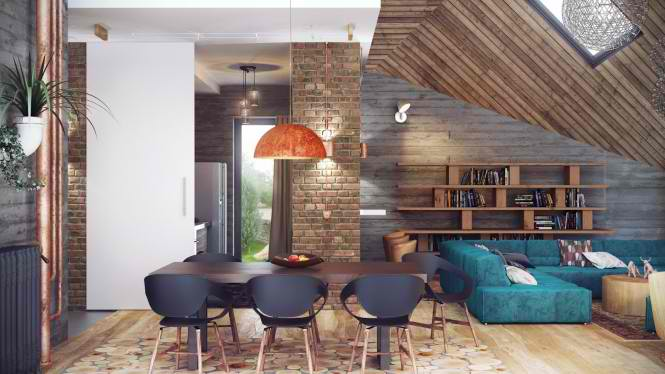 Industrial Loft 4 interior design ideas by Alexander Uglyanitsa