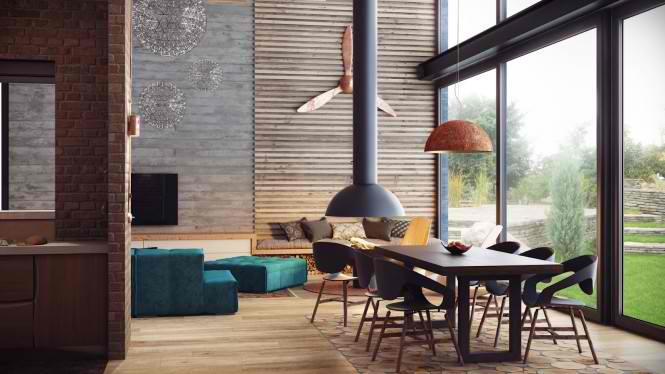 Industrial Loft 8 interior design ideas by Alexander Uglyanitsa